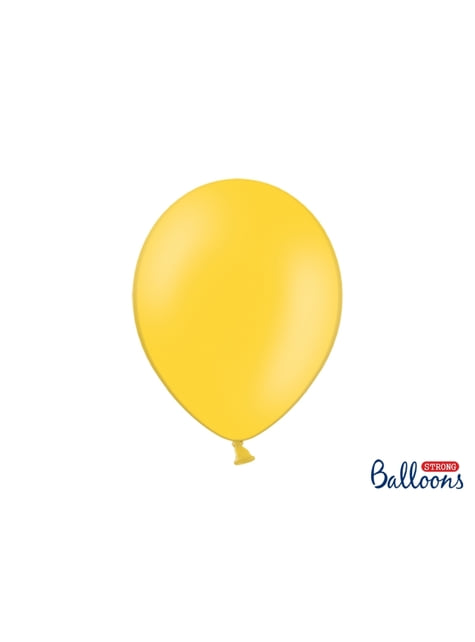 10 globos extra resistentes amarillo (30 cm)