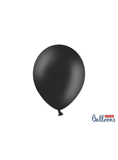 10 ballons extra résistants noir pastel (30 cm)