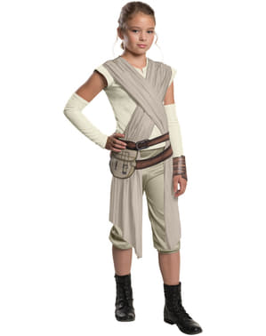 Star Wars: The Force Awakens Rey Deluxe Maskeraddräkt Barn