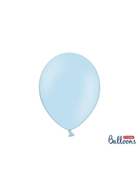 10 sterke ballonnen in Pastelblauw, 30 cm