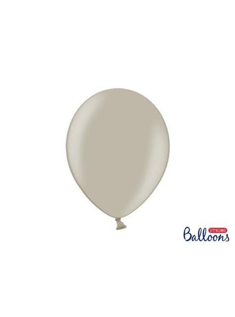 100 globos extra resistentes gris cálido (30 cm)