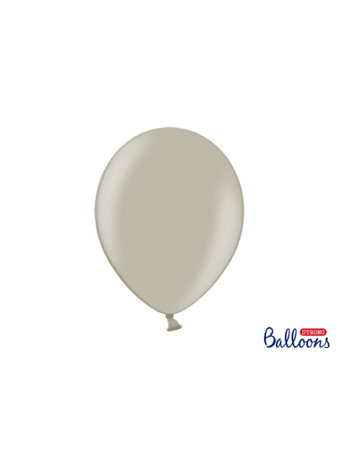 100 Luftballons extra stark grau-beige (30 cm)