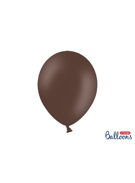 10 extra sterke ballonnen in donkerbruin (30 cm)