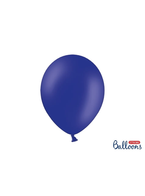 10 extra silných balonků (30 cm) elektricky modrých
