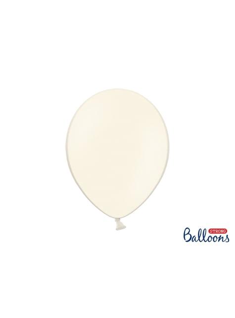 100 globos extra resistentes beige (30 cm)