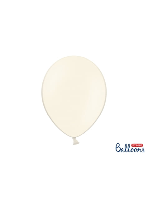 10 ballons extra résistants beige (30 cm)