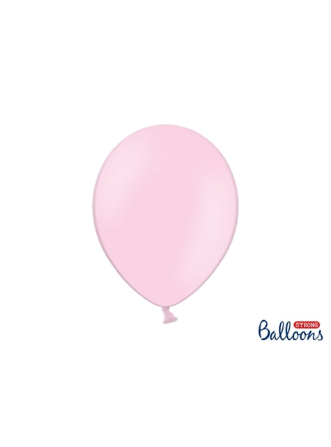 10 balões extra resistentes cor-de-rosa pastel (30cm)