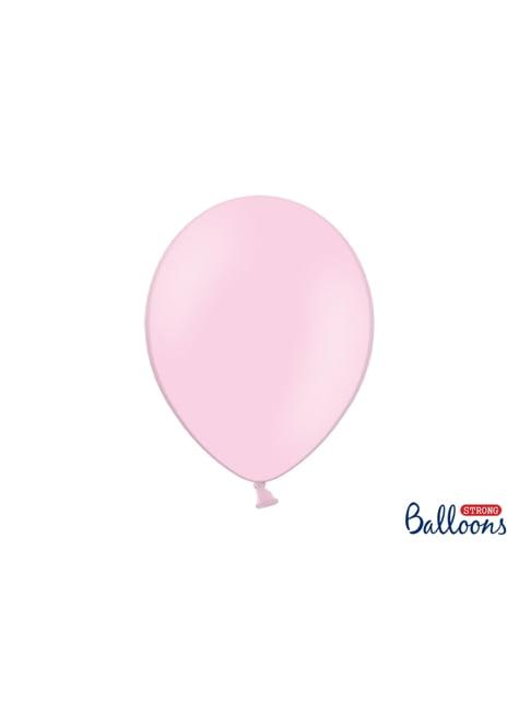 10 extra silných balonků (30 cm) pastelově růžových