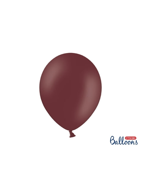 100 silných balónků ve vínově červené barvě, 30 cm