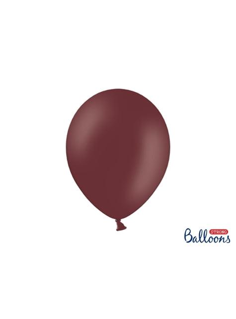 10 extra sterke ballonnen in kastanjebruin (30 cm)