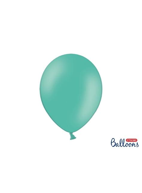 10 ballons extra résistants bleu aigue-marine (30 cm)