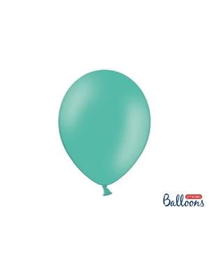 10 extra sterke ballonnen in watermarijn blauw (30 cm)