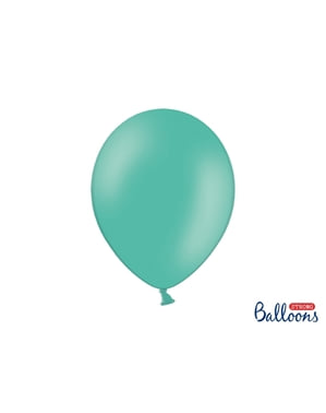 10 extra strong balloons in aquamarine blue (30 cm)