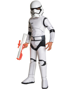Fato de Stormtrooper Star Wars Episódio VII deluxe para menino