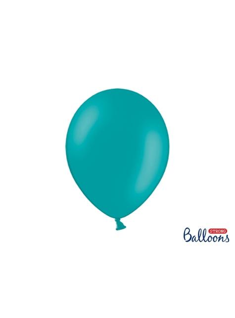 100 globos extra resistentes azul cielo (30 cm)