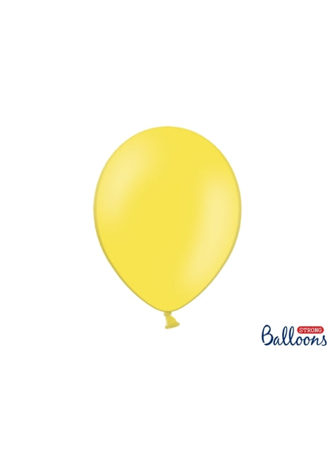 Set de 100 globos extra resistentes amarillo claro