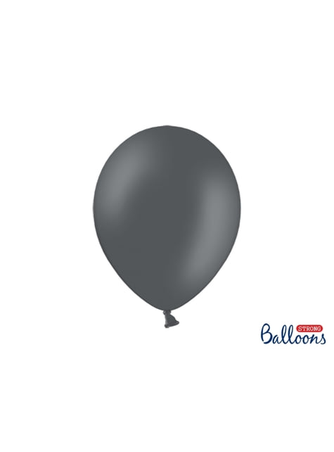 100 extra silných balonků šedých (30 cm)