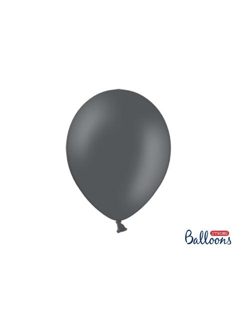 100 globos extra resistentes gris (30 cm)