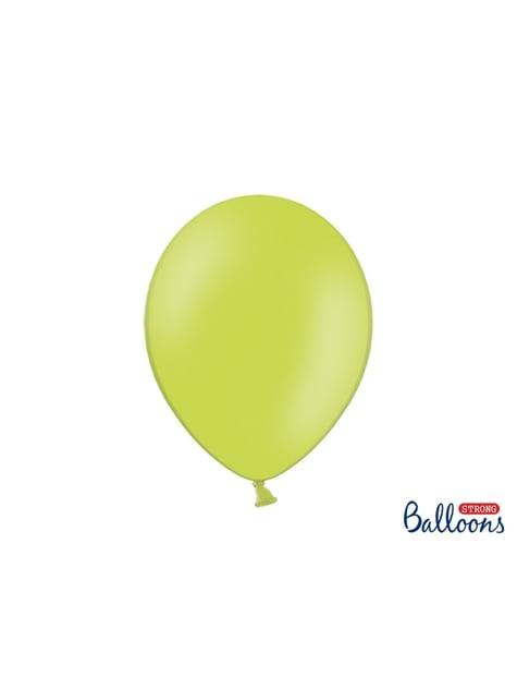 10 extra sterke ballonnen in limoen groen (30 cm)