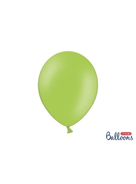 100 extra silných balonků leskle zelených (30 cm)