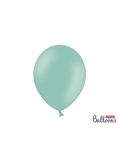 100 globos extra resistentes menta brillante (30 cm)