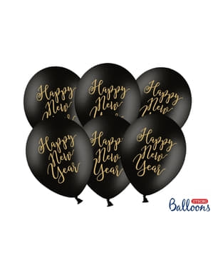 6 extra strong balloons for new year's eve