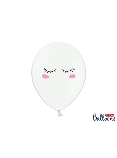 6 balões de latex com unicórnio make a wish (30cm) - Unicorn Collection
