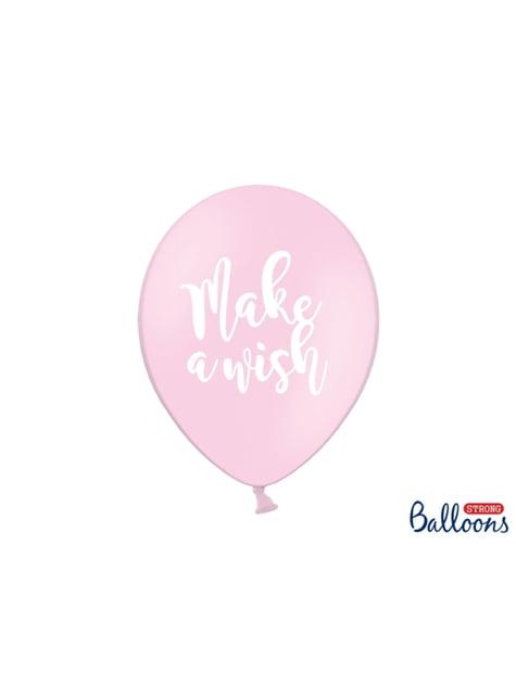 6 globos de látex de unicornio make a wish (30cm) - Unicorn Collection - para tus fiestas