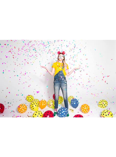 50 balonků poloprůhledně modrých with polka dots (30 cm)