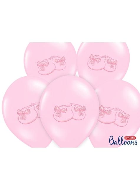 50 latexových balonků in růžových with booties (30 cm)