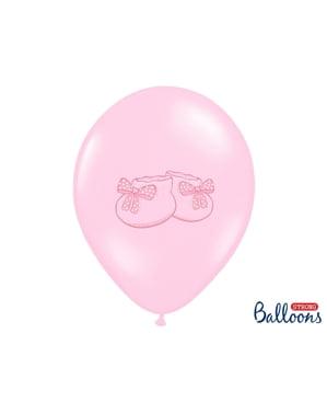 Patik pembe pastel 6 lateks balon (30 cm)
