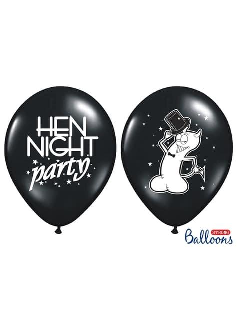 50 latexových balonků černých na dámskou rozlučku se svobodou (30 cm)