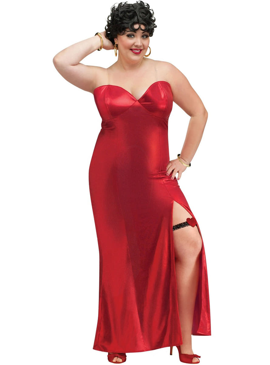 womens plus size betty boop costume