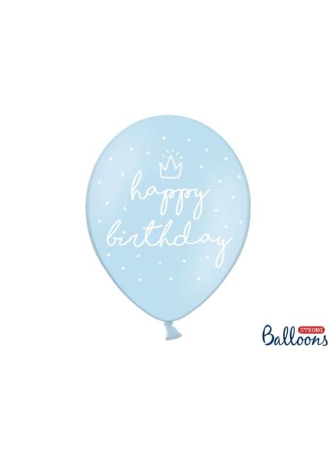 50 balões extra resistentes ''Happy Birthday