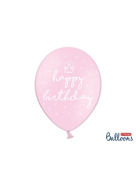 6 balões extra resistentes ''Happy Birthday