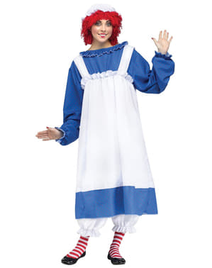 Raggedy Ann kostuum voor vrouw