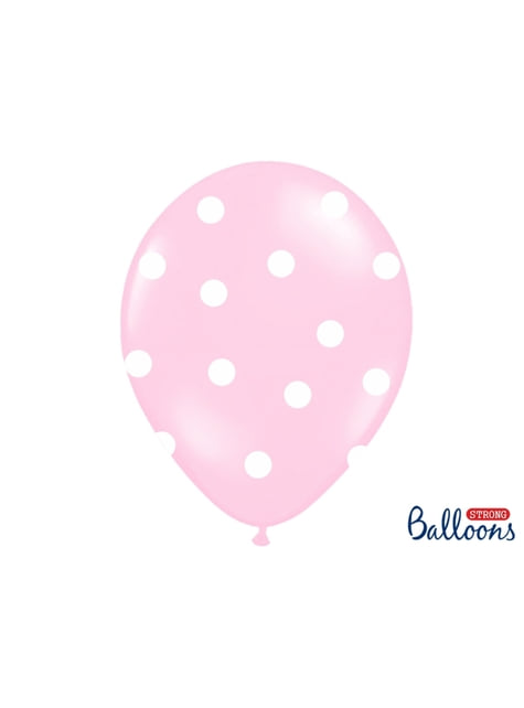 6 balões cor-rosa de latex com elefante  (30 cm)