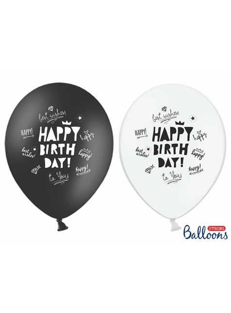 6 balões variados