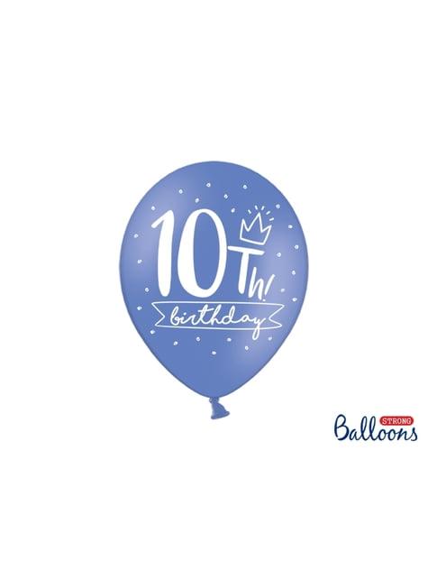50 extra sterke ballonnen - 10e verjaardag (30 cm)