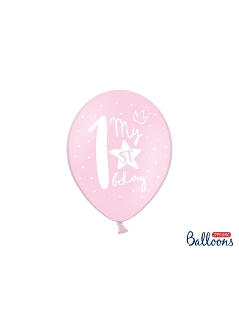 50 extra silných balonků for first birthday (30 cm)