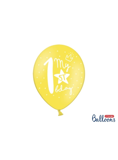 50 extra strong balloons for first birthday (30 cm)