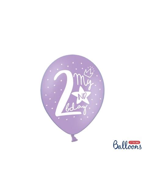 50 ekstra stærke balloner til anden fødselsdag (30 cm)