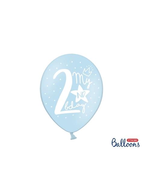 50 globos extra resistentes segundo cumpleaños (30 cm)