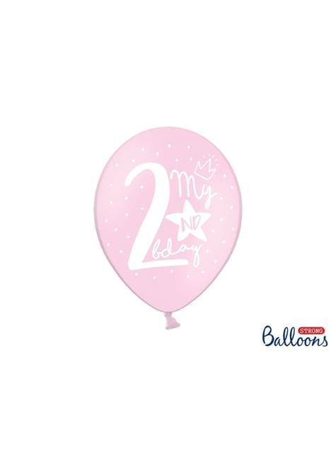 50 extra sterke ballonnen voor tweede verjaardag (30 cm)