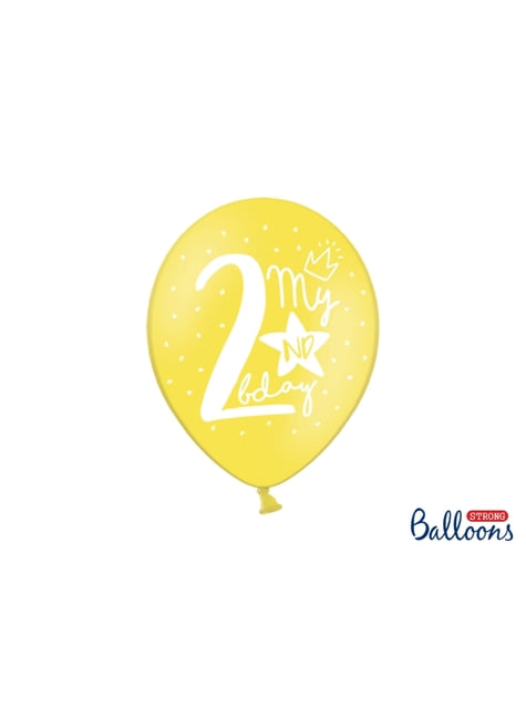 50 balões extra resistentes segundo aniversário (30cm)