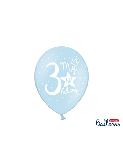 50 Luftballons extra stark 3. Geburtstag (30 cm)
