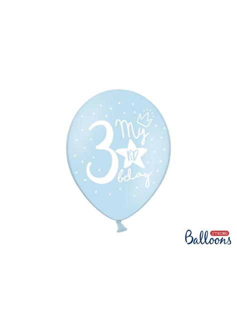 50 palloncini extra resistenti 3° compleanno (30 cm)