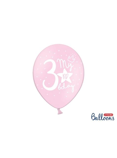 50 ballons extra résistants tercer anniversaire (30 cm)