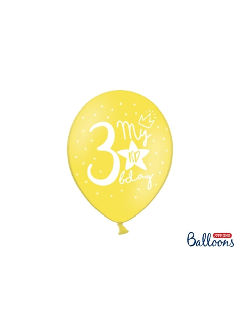 50 extra strong balloons for third birthday (30 cm)