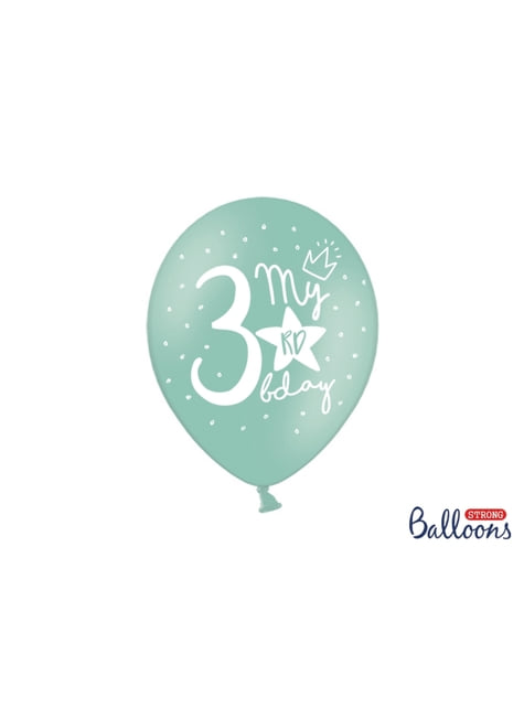 50 extra silných balonků for third birthday (30 cm)